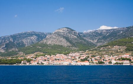 View to the town of Bol. The island of Brac. Croatia Reklamní fotografie