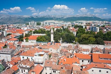 sightsee: Split city view, Croatia Stock Photo