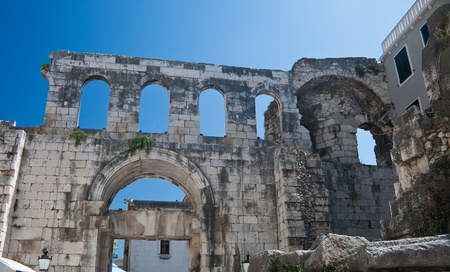 Split. Diocletian's Palace - Eastern (Silver) Gate Stock Photo - 11269274