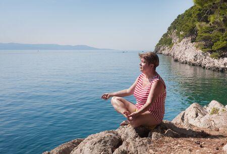 Meditation on the beach photo