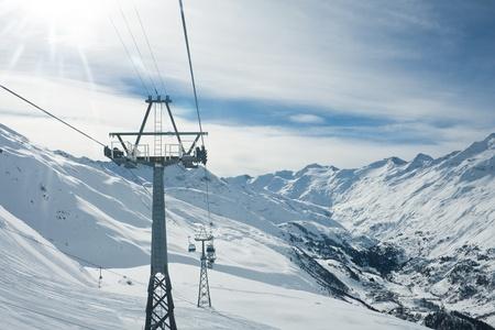 slopes: Ski resort  Hohrgurgl. Austria