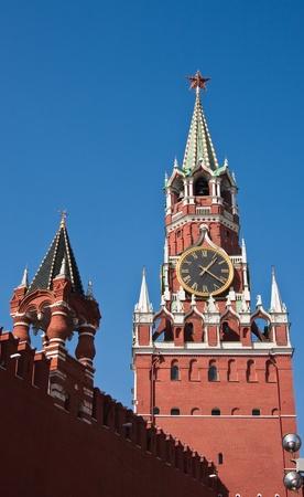 spasskaya: The Spasskaya and Imperial Towers of Moscow Kremlin