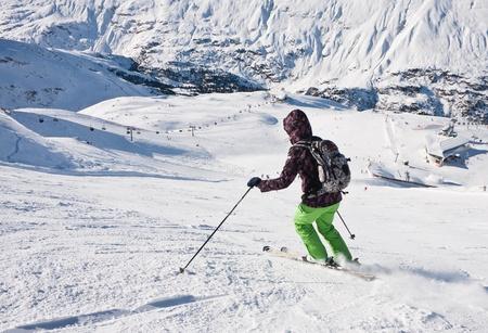 On the slopes of the ski resort of Obergurgl Austria photo
