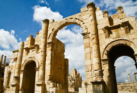 Ancient Jerash ruins, Jordan photo