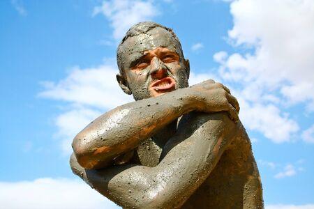 Mud treatment at the Dead Sea, Jordan Editorial