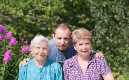Three generations of family photo