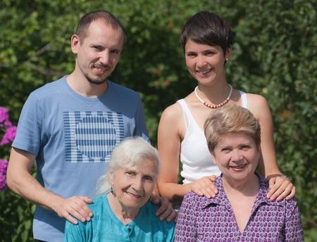 intergenerational: Three generations of family Stock Photo