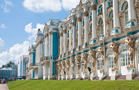 selo: The Catherine Palace, located in the town of Tsarskoye Selo  Pushkin , St  Petersburg, Russia