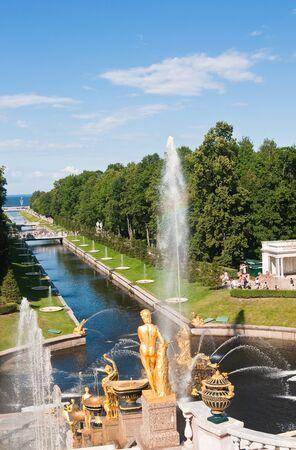 Grand cascade in Pertergof, Saint-Petersburg, Russia  photo