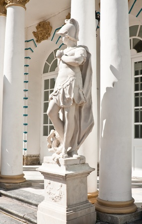 The statue in the ensemble of the Catherine Palace. St. Petersburg, Tsarskoye Selo. Russia