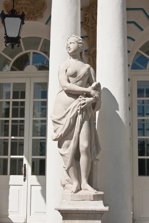 tsarskoye: The statue in the ensemble of the Catherine Palace. St. Petersburg, Tsarskoye Selo. Russia Editorial