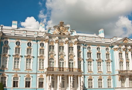 The Catherine Palace, located in the town of Tsarskoye Selo  Pushkin , St  Petersburg, Russia