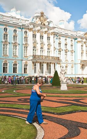 catherine: Gardener in the Catherine Park  Tsarskoye Selo  St  Petersburg   Editorial