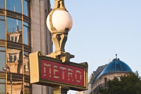Metro entrance in Paris, France photo