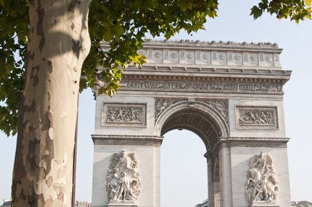 view of the Arc de Triomphe in Paris, France  Stock Photo - 13005473