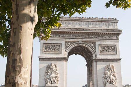 view of the Arc de Triomphe in Paris, France Stock Photo - 13005473