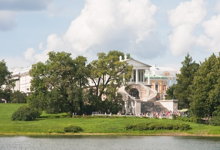 The Cameron Gallery in Catherine park  Tsarskoye Selo is a former Russian residence of the imperial family and visiting nobility 24 km south from the center of St  Petersburg Stock Photo - 13129237