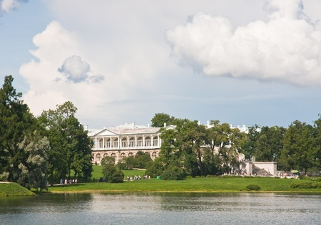 The Cameron Gallery in Catherine park  Tsarskoye Selo is a former Russian residence of the imperial family and visiting nobility 24 km south from the center of St  Petersburg  Stock Photo - 13118263