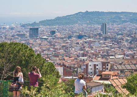Vista panor�mica de la ciudad de Barcelona, ??Espa�a Foto de archivo - 13315418