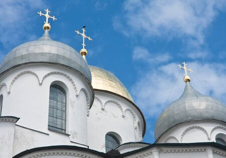 Saint Sophia cathedral in Kremlin of Great Novgorod Russia Stock Photo - 13380147