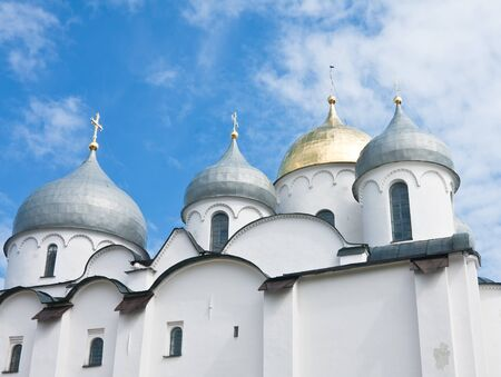 Saint Sophia cathedral in Kremlin of Great Novgorod Russia Stock Photo - 13380135