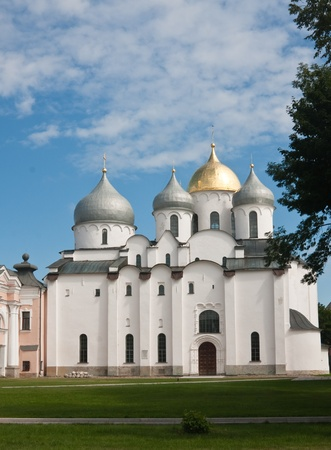 Saint Sophia cathedral in Kremlin of Great Novgorod Russia photo