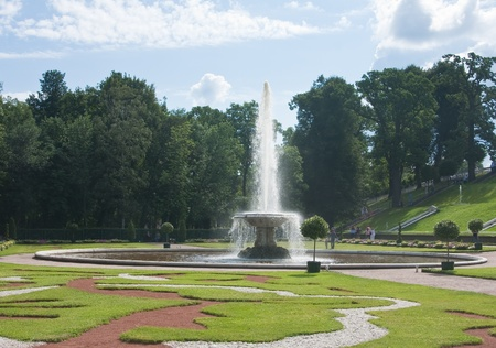 Peterhof  Lower Park  Fountain  Bowl   Russia Stock Photo - 13380283