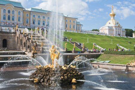 Grand cascade in Pertergof, Saint-Petersburg, Russia  Stock Photo - 13373099