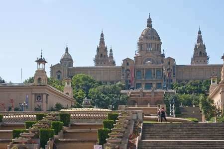 National Museum of Catalonia, Spain  Barcelona Stock Photo