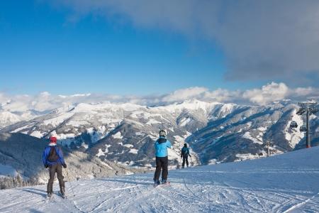 Ski resort Zell am See  Austria Stock Photo