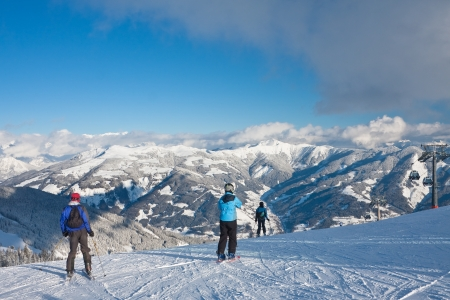 Ski resort Zell am See  Austria Stock Photo