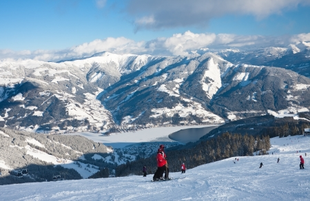 zell am see: Ski resort Zell am See  Austria Stock Photo