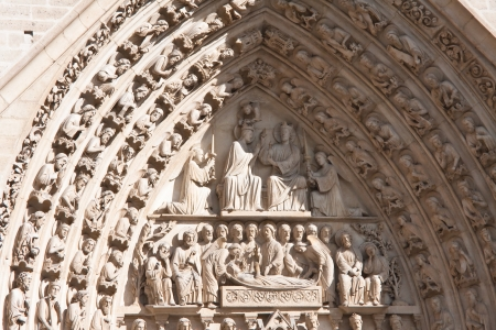 Paris  Fragment of Notre Dame Stock Photo - 15922257