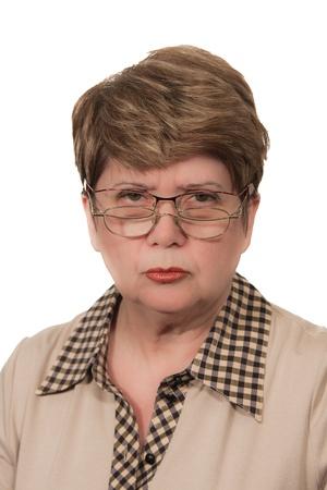 Portrait of strict woman Stock Photo