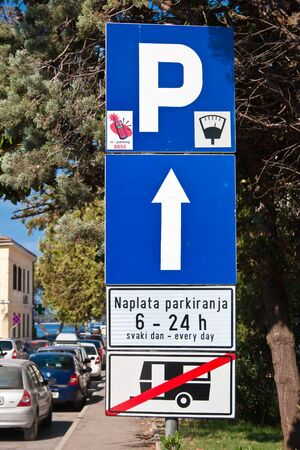 Road sign with restrictions Stock Photo - 17227853