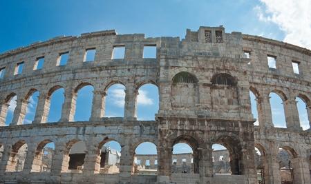 roman amphitheatre: Anfiteatro romano en Pula, Croacia