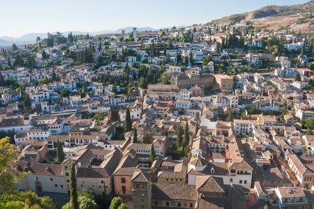 Spain  Granada  View from the Alhambra Palace Stock Photo - 21308421