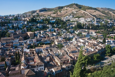 Spain  Granada  View from the Alhambra Palace Stock Photo - 21308422