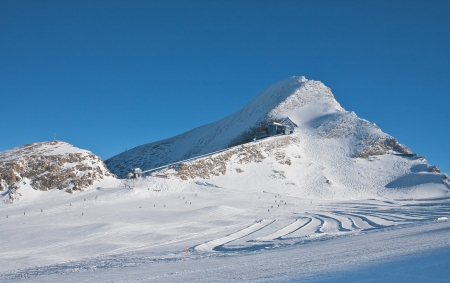 kitzsteinhorn: Ski resort of Kaprun, Kitzsteinhorn glacier  Austria Stock Photo