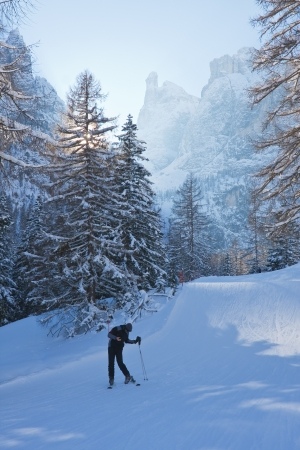 Ski resort of Selva di Val Gardena, Italy photo