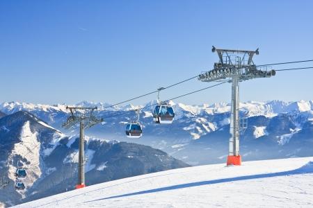 Ski resort Zell am See, Austrian Alps at winter photo