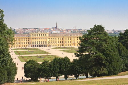 saint stephen cathedral: Panorama of Schonbrunn Palace in Vienna, Austria