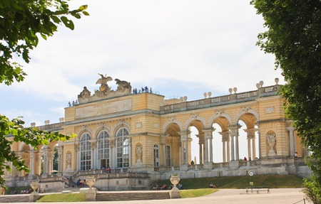 the gloriette: Gloriette. Schonbrunn. Vienna, Austria  Editorial
