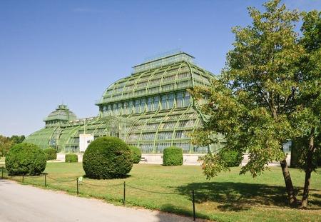 schloss schoenbrunn: Palm pavilion in the park of Schonbrunn, Vienna, Austria