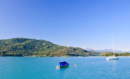 Lake Worthersee. Oostenrijk
