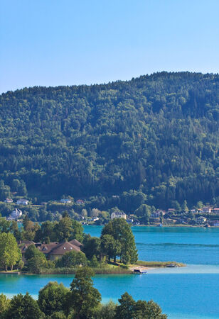 Lake Worth (Wörthersee) in Oostenrijk