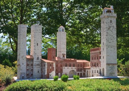 Klagenfurt. Miniature Park Minimundus. AustriaThe town of San Gimignano, Tuscany, Italy