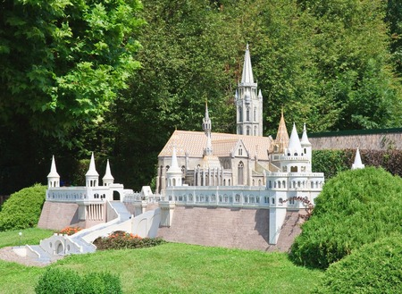 fishermens: Fishermens Bastion, Budapest, Hungary. . Klagenfurt. Miniature Park Minimundus. Austria Stock Photo