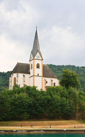 Resort Maria Worth  Church of St  Primus and Felician  Austria Stock Photo