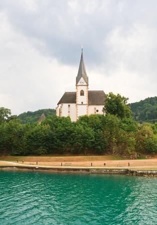 primus: Resort Maria Worth  Church of St  Primus and Felician  Austria Stock Photo